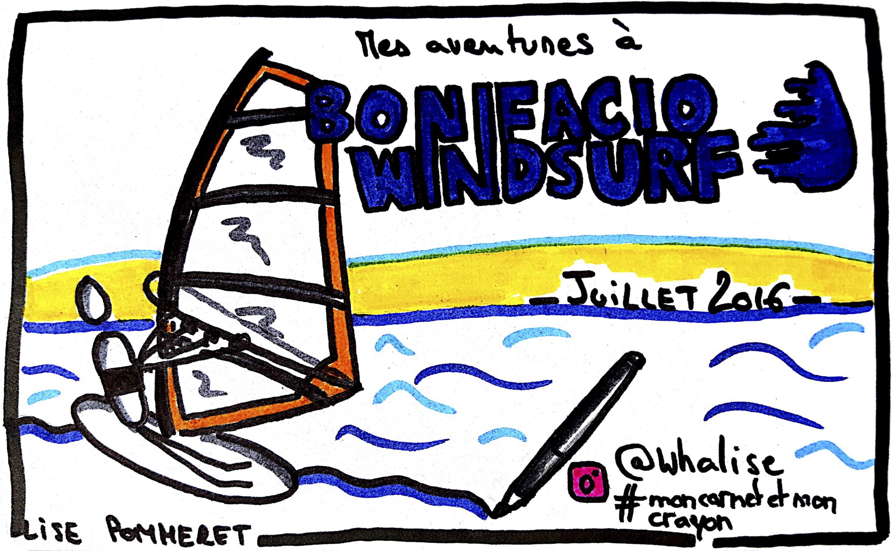 Sketchnotes De Mes Cours De Planche A Voile A Bonifacio Windsurf Disscribe